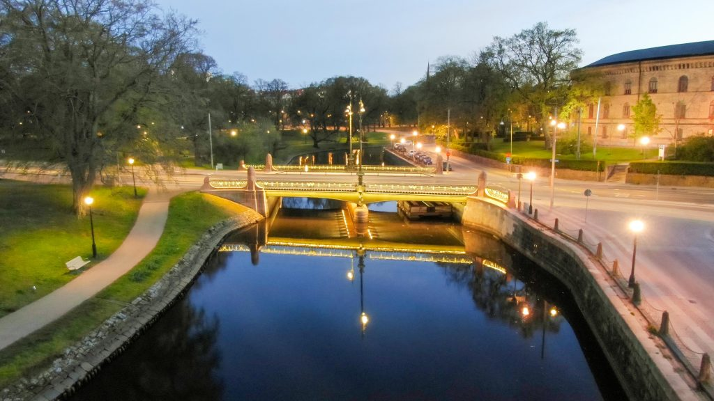 Belysningen på Vasabron